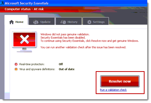 copy of windows is not genuine virus